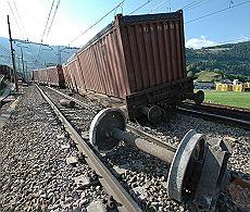 Vipiteno - Deraglia il treno dei rifiuti